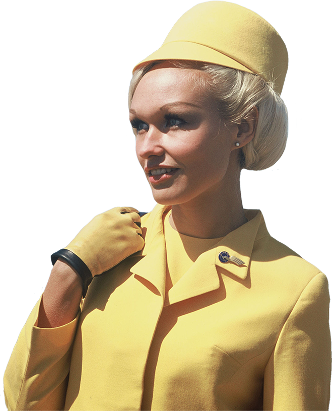 Lufthansa Stewardess Uniform 1960